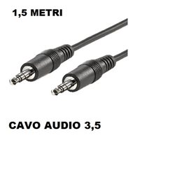 CAVO AUDIO JACK 3.5 M/M 1,5 MT