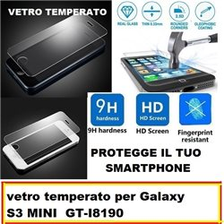vetro temperato per Galaxy S3 MINI GT-I8190 4.0""