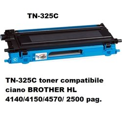 TN-325C toner compatibile ciano BROTHER HL 4140/4150/4570/ 2500 pag.