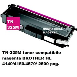 TN-325M toner compatibile magenta BROTHER HL 4140/4150/4570/ 2500 pag.