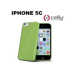 CELLY IPHONE 5C Cover in morbido e avvolgente TPU anti-shock verde