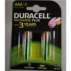 DURACELL BATTERIE RICARICABILI AAA STAY CHARGED 750 mAh