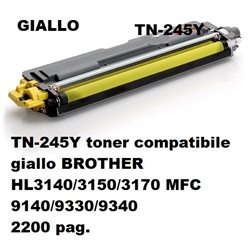 TN-245Y toner compatibile giallo BROTHER HL3140/3150/3170 MFC 9140/9330/9340 2200 pag.