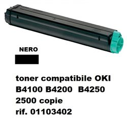 toner compatibile OKI B4100 B4200 B4250 nero 2500 copie rif. 01103402