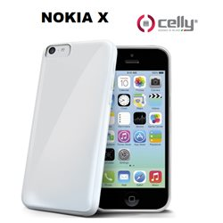 CELLY cover Nokia X Cover in TPU trasparente