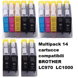 Multipack 14 cartucce compatibili BROTHER LC970 LC1000